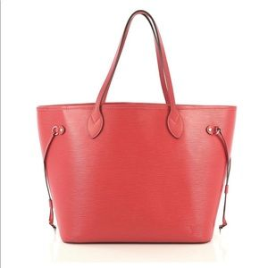 Louis Vuitton Neverfull MM Coral Tote